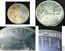 1955 ARNPRIOR WITH DIE BREAK -CANADA SILVER DOLLAR