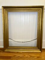"Large Antique Fits 25"" X 30'""  Lemon Gold Gilt Picture Frame Wood Gesso C.1830"