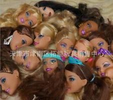 "10pcs Random Send Heads+10pcs Shoes Girls Doll Accessories  For 30cm 12"" Doll"