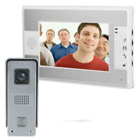 """7"""" TFT LCD Monitor Wired Color Video Door Phone Doorbell Home Intercom System"""