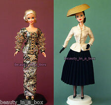 Christian Dior Barbie Doll Exclusive Paris Designer 1995 1997 ~ NO BOXES Lot 2 ""