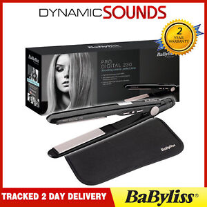 BABYLISS Pro Digital 230 Straight & Curl Hair Straightner Ceramic Styler 2079U