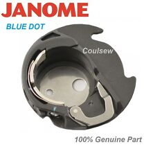 JANOME 100% GENUINE BLUE DOT BOBBIN CASE HAND LOOK FREEMOTION QUILTING 200445007