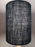 Hessian Drum Lampshade in Black in Various Sizes