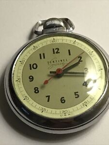 Sentinel Sweep Vintage Mechanical Wind Up Pocket Watch, Working Condition.