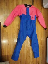 Retro vintage Douglas Gill nylon waterproof Sailing  suit Women's XL Blue/Pink