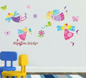 Fairy Flower Butterfly Nursery Kid Baby Girl Removable wall sticker Decal