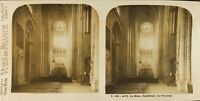 FRANCE Le Mans Cathédrale Transpet Photo Stereo Vintage Argentique PL61L1149