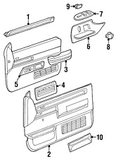 Genuine GM Rest Asm-Si F/D Arm-Rh  Gray 15691230