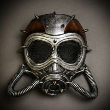 Steampunk Spike Full Face Gas Skull Mask Costume Halloween Cosplay Accessories