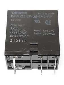 Omron G4W-2212P-US-TV5-HP Relay 12 VDC Lot of 2