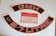 Engine Bay Dress Up Kit Sticker Red 5.7 Litre Air Filter  Peter Brock