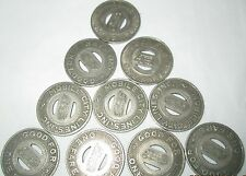 Alabama Mobile City Lines Transit Token Good for one fare Vintage 10 Tokens