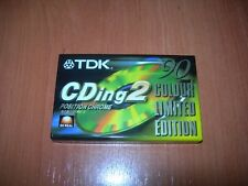 CASSETTE TDK CDing2 POSITION CHROME 90 TYPE II COLOUR LIMITED EDITION NUEVA
