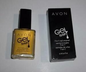 Avon Gel Finish 7 in 1 Yellow Shimmer Limoncello Nail Polish