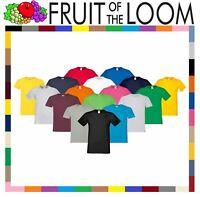Fruit Of The Loom Mens Softspun Sofspun Plain T-Shirt tshirt Tee 100% Cotton
