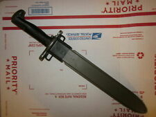 "Vintage Wwii Era 10"" M1 Bayonet With Scabbard For M1 Garand, Collectible"