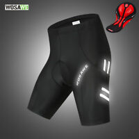 Mens Cycling Shorts Gel Padded Breathable Reflective MTB Road Team Bike Shorts