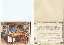 VINTAGE COLONIAL COOK CAPE COD CRANBERRY CHICKEN SALAD COOKIE RECIPE COOK PRINT