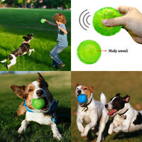 Pet Aggressive Training Chew Toys Rubber Floating Squeaky Ball Dog Playing Ball