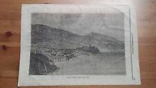 1873 Illustrazione Popolare: Veduta dell'Isola di Lipari (Isole Eolie Sicilia)