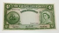 1953 Bahamas 4 Shillings Note in XF Condition P #13