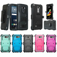 LG Phone Models Rugged Holster [Built-in Screen Protector] Case with [Kickstand]