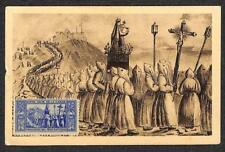 FRANCE POSTER STAMP MAXIMUM CARD NOTRE DAME DE LA GARDE POSTCARD MILITARY1945