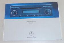 Manuel Mercedes Benz Radio SOUND 5 Stand 01/2006