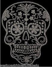 Skull Crystal Rhinestone Iron on Transfer     5LH7