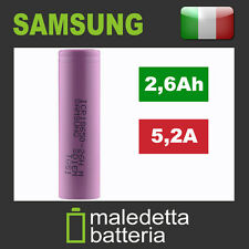 Batteria 18650 Originale Samsung SDI ICR18650 26H M 2600mAh - sigaretta bb mod
