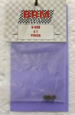 Brm S-030 9 Tooth Brass Pinion (3) New 1/24 Slot Car Part