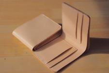 men women wallet purse cow Leather Card Cases ID Bifold bag beige white Z114