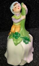Vintage 4� Avon porcelain bell 1983 - Good Luck Dinner Bell with elf on a flower