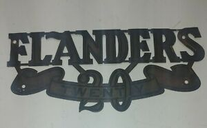 Flanders 20 suburban Studebaker front grill metal plaque ornament 1910-1913 era