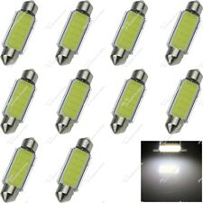10X White 44MM 45MM 12 Chips COB LED Reading Light Festoon Bulbs Lamps Car ZI352