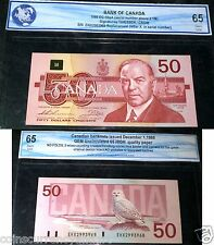 1988 Bank Of Canada $50 EHX replacement UNC