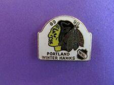 CHL/WHL 1989-90 Portland Winter Hawks Pin