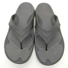Crocs Logo Dual Comfort Black Casual Slide Flip Flop Sandals Shoes Men's 12