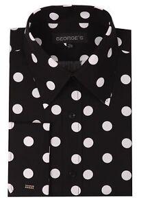 Men's 100% cotton Polka Dot Design Dress Shirt Style AH616
