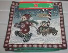 2 NOS Christmas CUSHION COVER tapestry zippered North Pole Bear 14 x 14