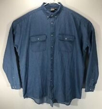 "Oversized Denim Tunic Dress Boyfriend Shirt Womens XL/2XL Tall 66""bust/34""long"