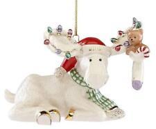Lenox ~ 2018 Marcel'S Christmas Stocking Moose Ornament ~ Brand New in Box