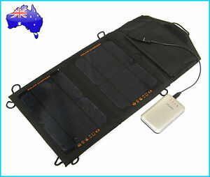 7W Portable Solar Panel Pack+ 5000mAh Power Bank Mobile Charger External Battery