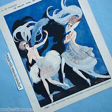 LA VIE PARISIENNE Vald'Es BALLET 1921 ORIGINAL ART PRINT OFFSET LITHO PARIS RARE