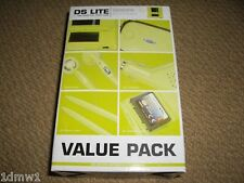 NINTENDO DS LITE ACCESSORY PACK Console Game Case Car Charger Lime Green NEW