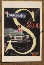 Carte format CPSM,Affiche Salon de l'Automobile 1953