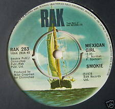 "SMOKIE - Mexican Girl - Excellent Condition 7"" Single"