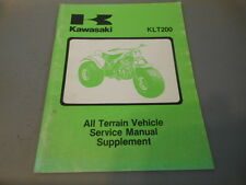 OEM Factory Kawasaki 1981-1983 KLT200 Service Manual Supplement 70pgs