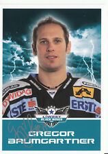 Gregor Baumgartner Black Wings Linz 2011-12 TOP AK Orig. Sign. Eishockey +A38228